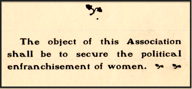 A 1903 pamphlet from the Illinois Equal Suffrage Association